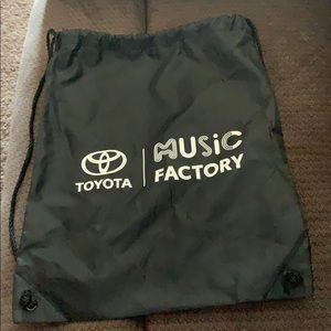 Toyota music factory drawstring bag
